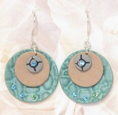 Mica shift polymer clay earrings